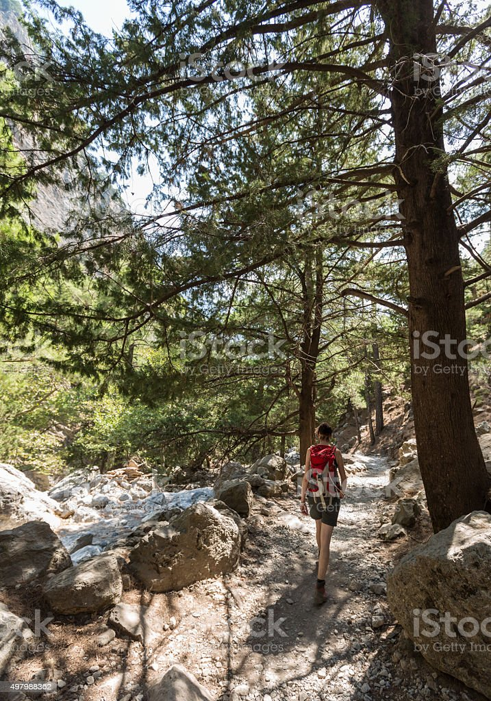 Walk the Samaria Gorge, Crete stock photo