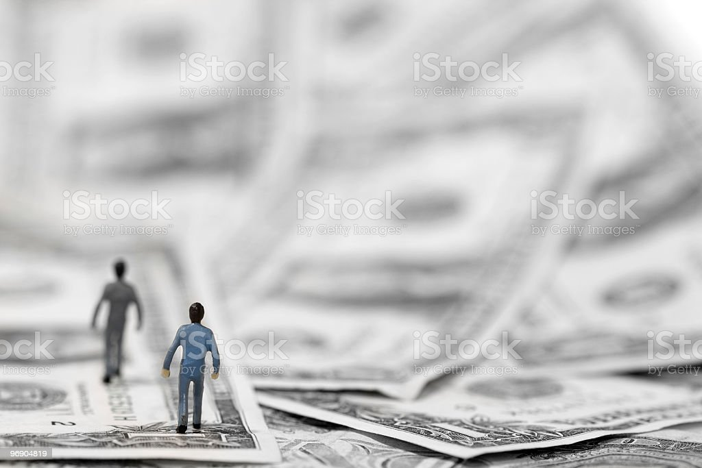 Walk through money royalty-free stock photo