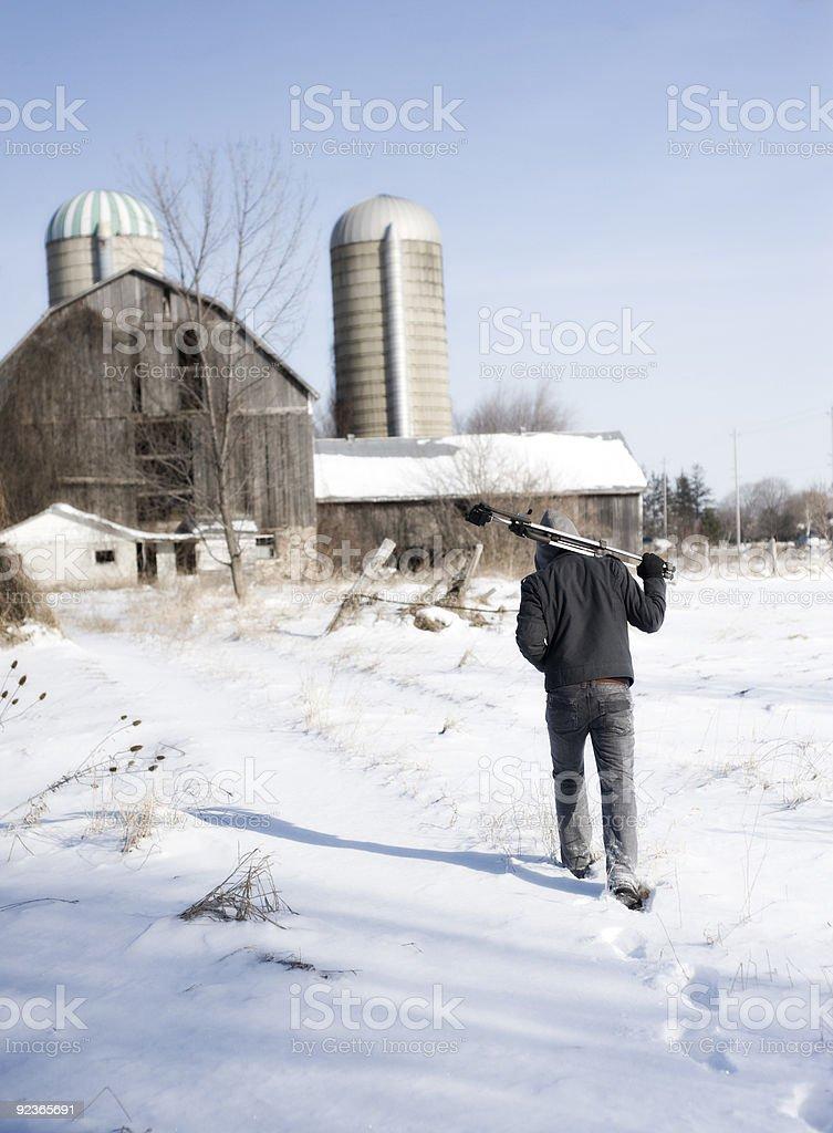 walk to barn royalty-free stock photo