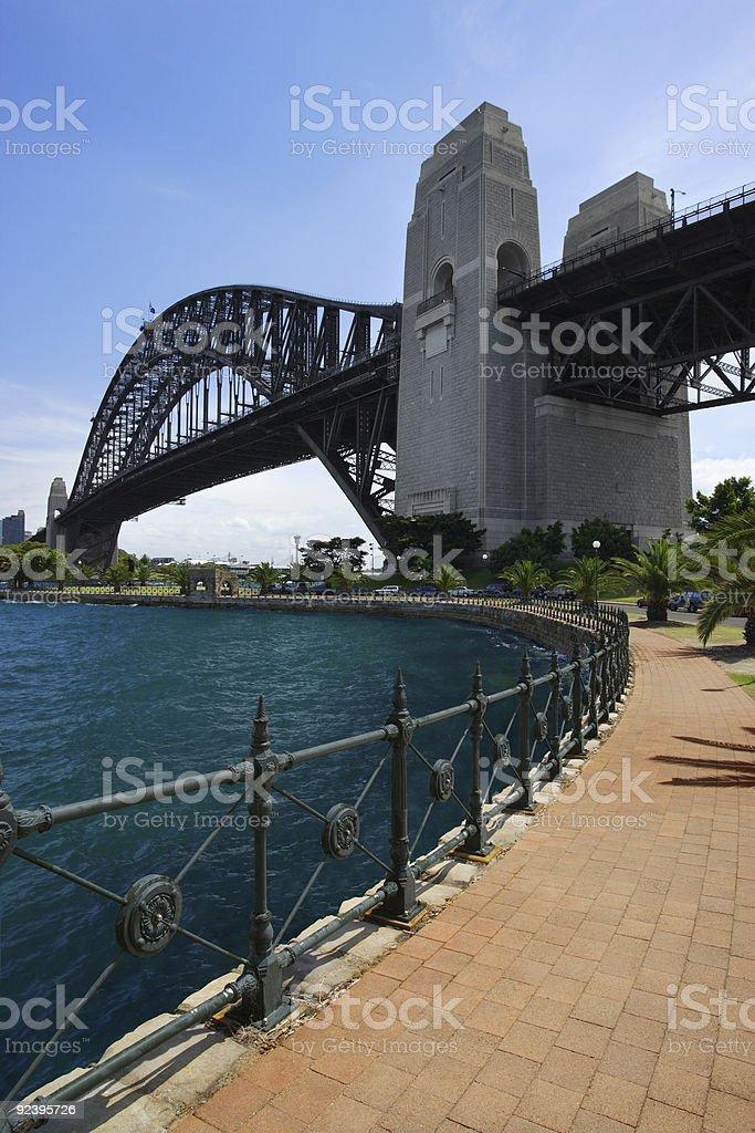 Walk towards Sydney Bridge royalty-free stock photo