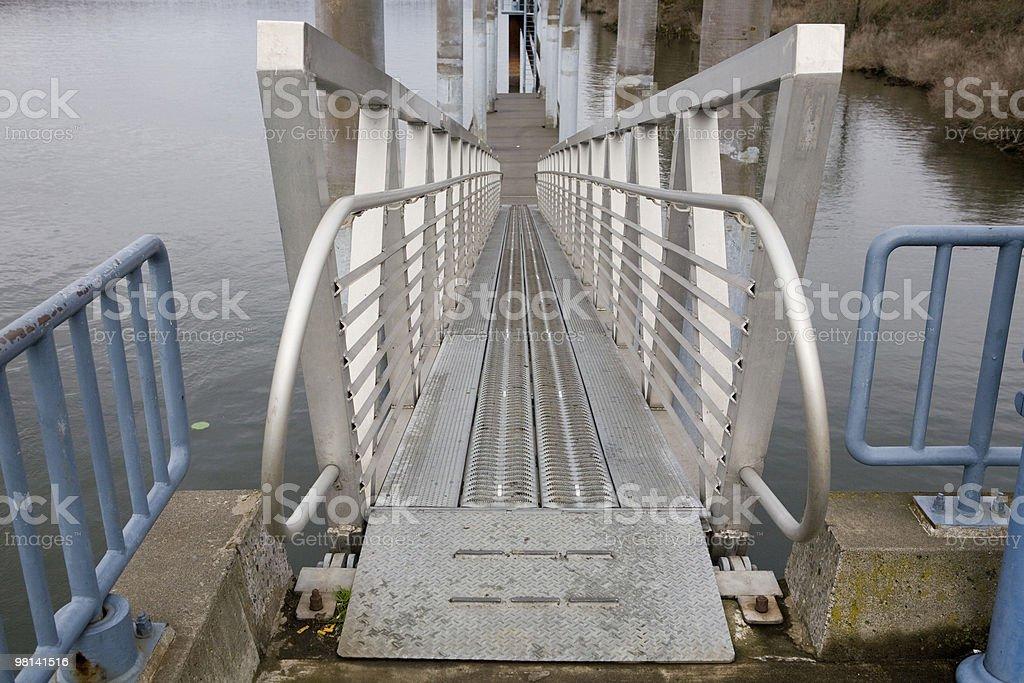 Walk way down to pier royalty-free stock photo