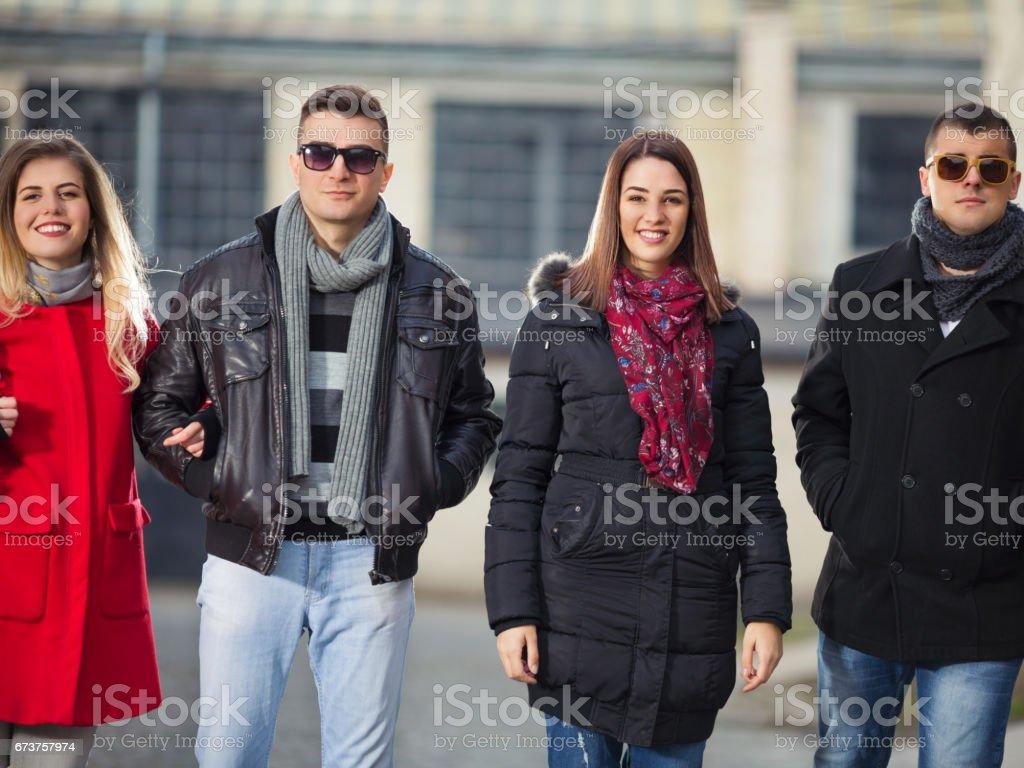 Walk with Friends photo libre de droits