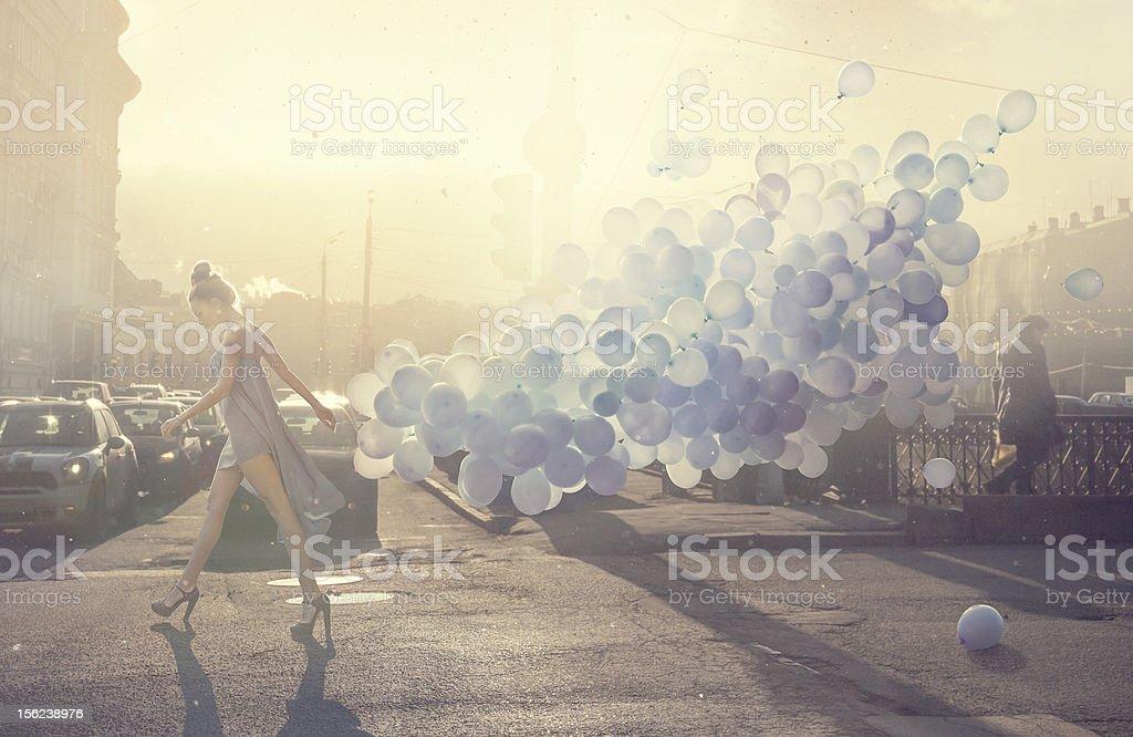 walk with lightness royalty-free stock photo