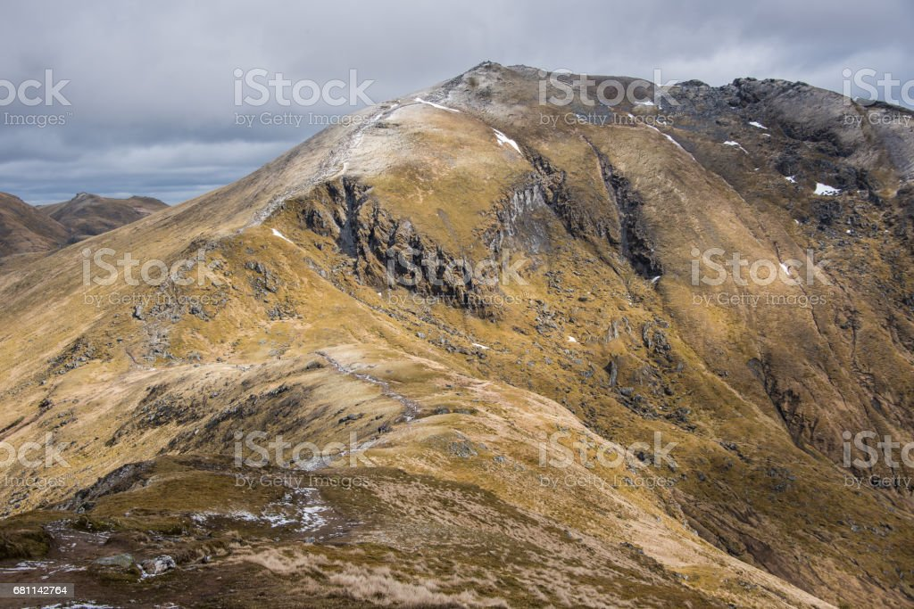 Walkers heading to Ben Lawers stock photo