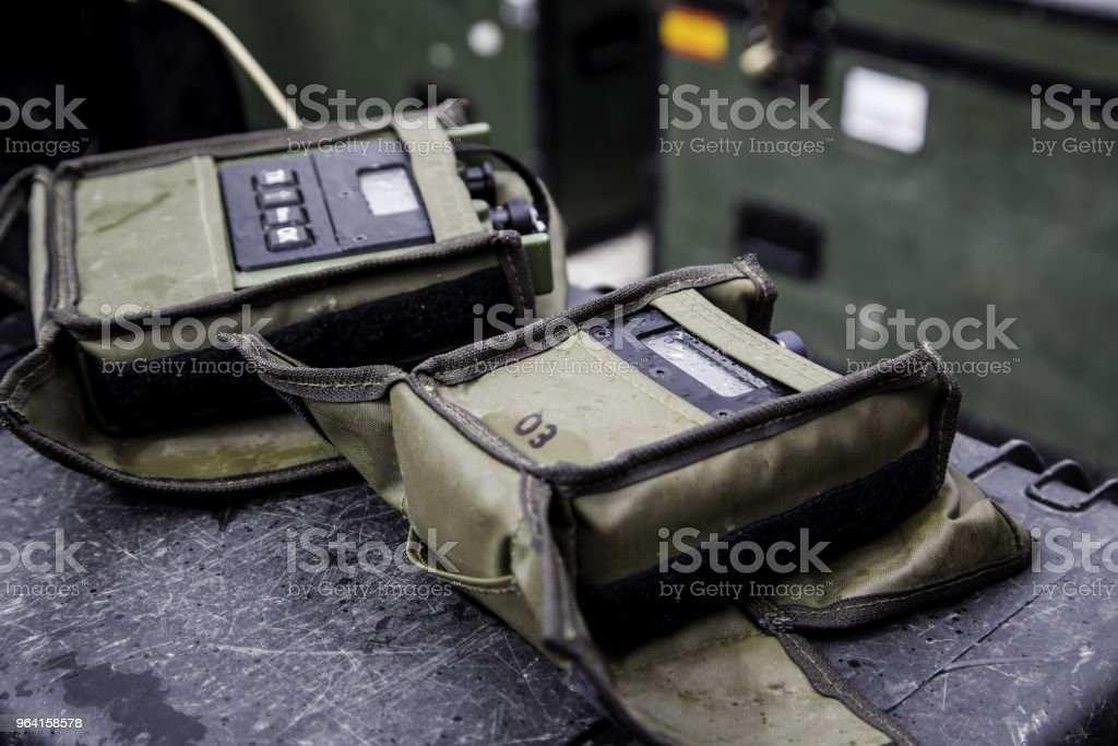 Walkie Talkie armed forces stock photo