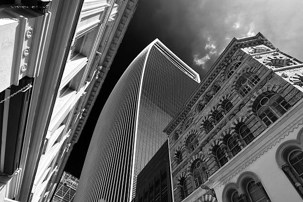 Walkie-Talkie Building in 20 Fenchurch Street London stock photo