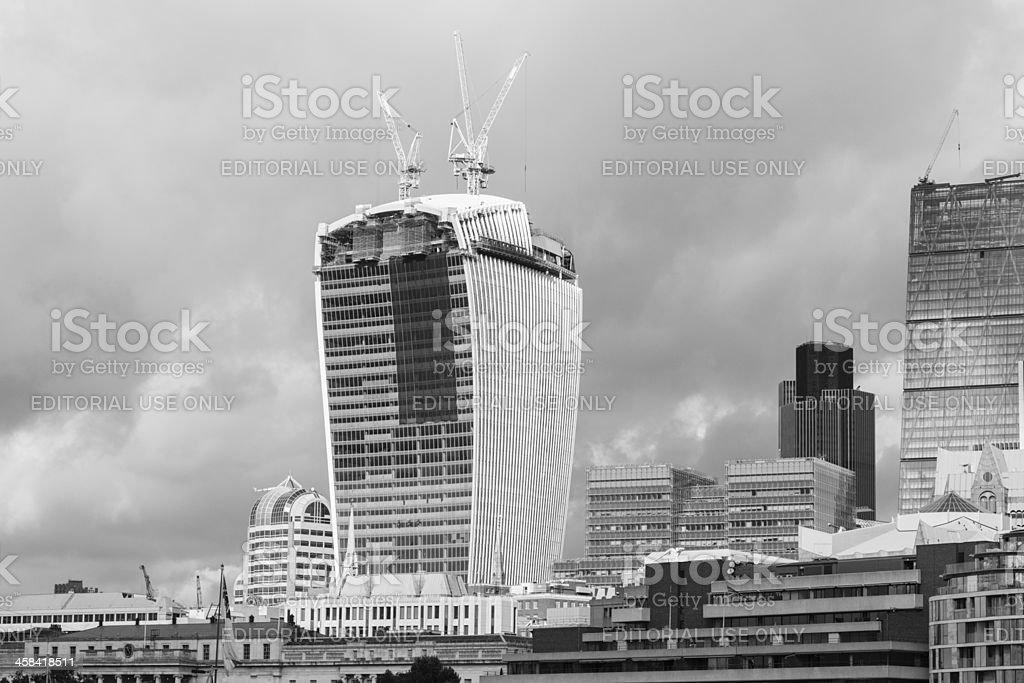 Walkie-Talkie Building in London, England royalty-free stock photo