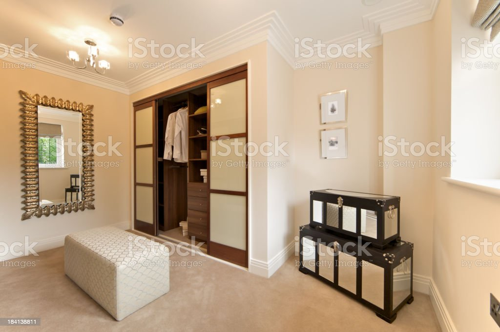 walk-in wardrobe and chests royalty-free stock photo