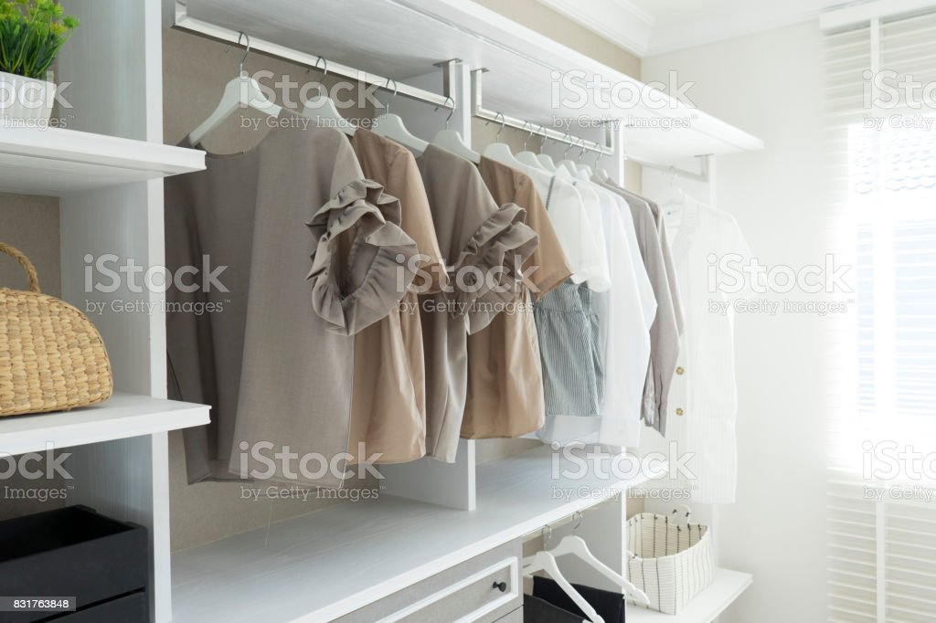 Fear Girl Hiding In Closet With Hand Reaching Out Stock