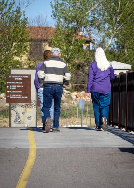 Fuß entlang der Boise greenbelt – Foto