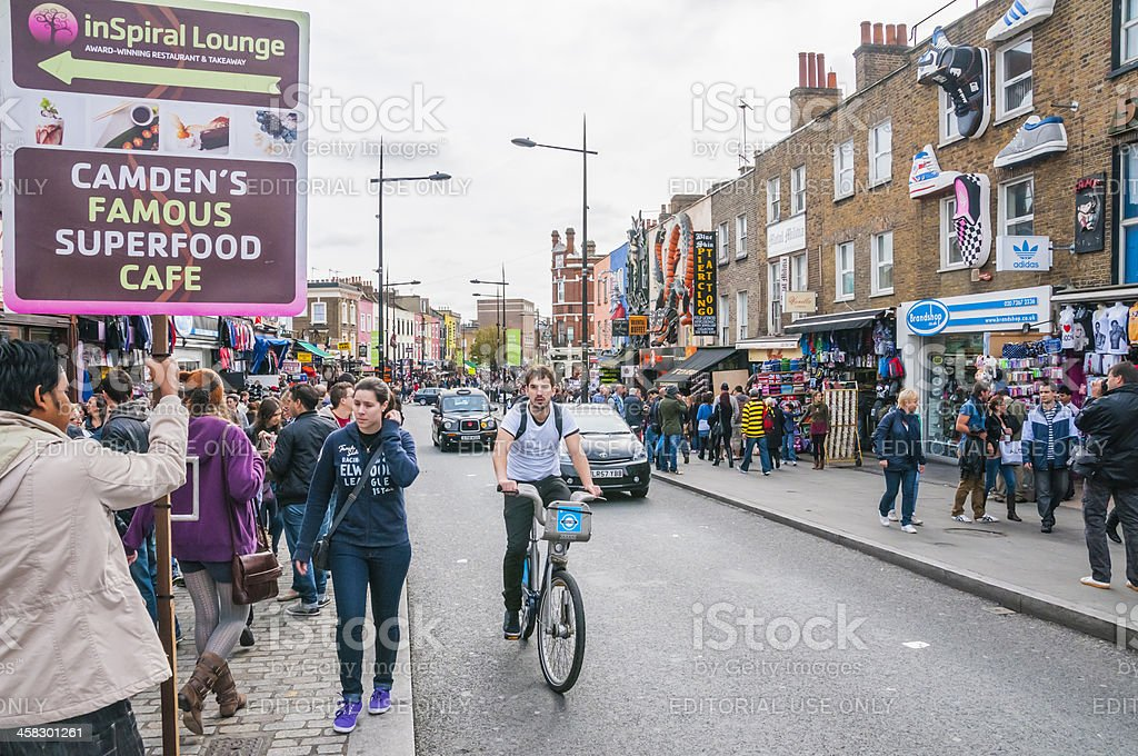 Walking around Camden Town stock photo