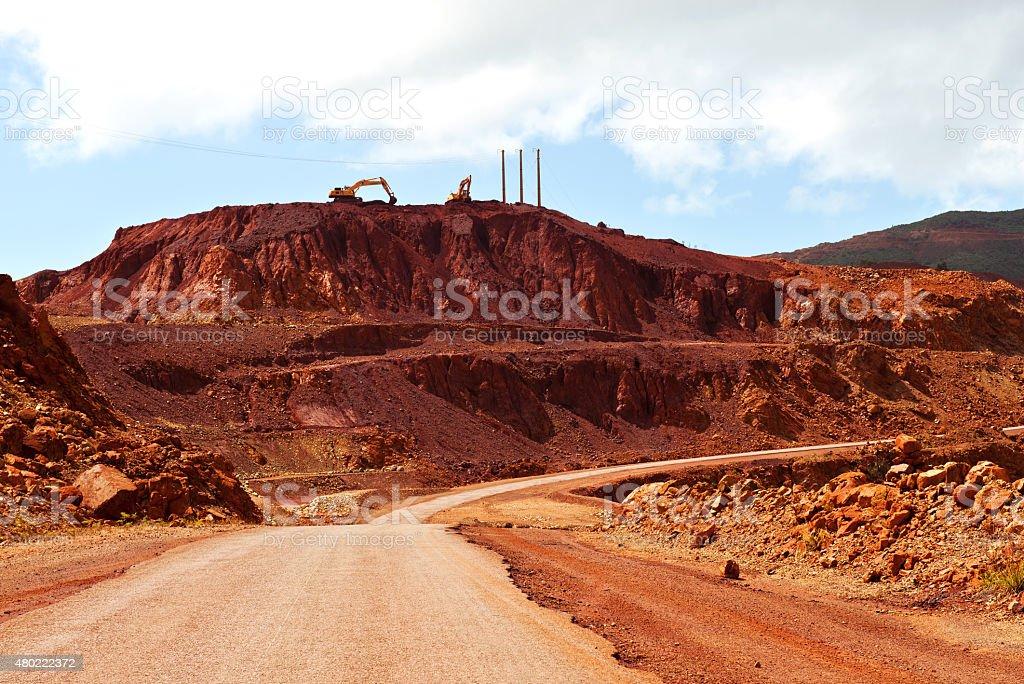 Walking around in New Caledonia stock photo