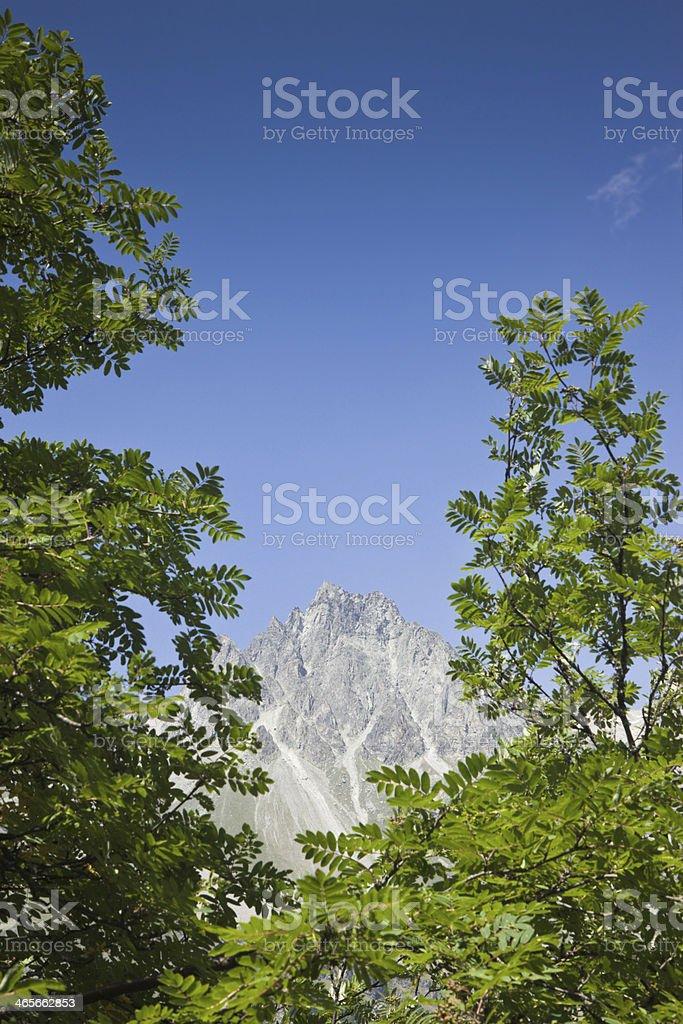 Walking around Sils lake (Switzerland): Piz Lagrev on background stock photo