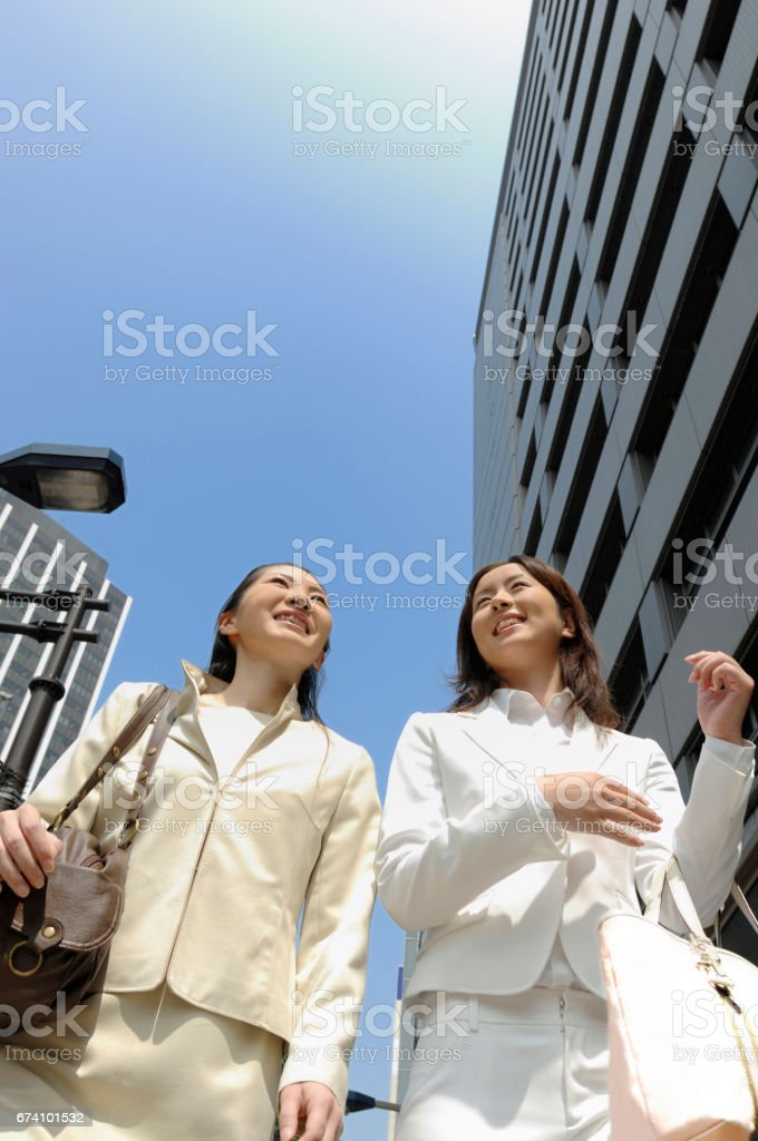 Walking around the Office business royalty-free stock photo
