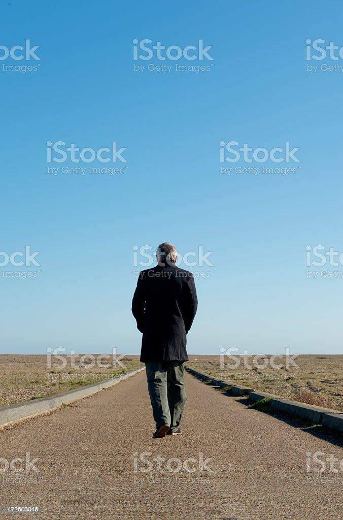 Walking Away stock photo