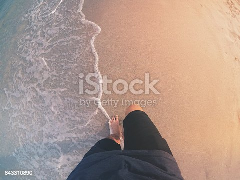 1088451256 istock photo POV: Walking Barefoot on a Beach 643310890