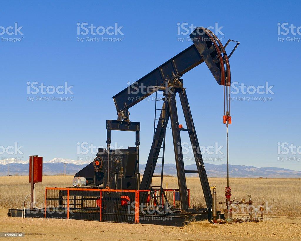 Walking Beam Oil Pump royalty-free stock photo