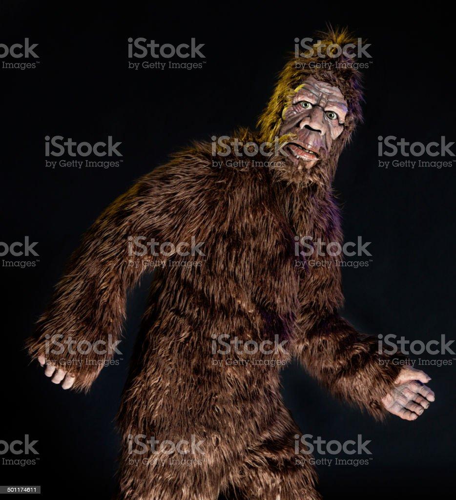 Walking Bigfoot stock photo