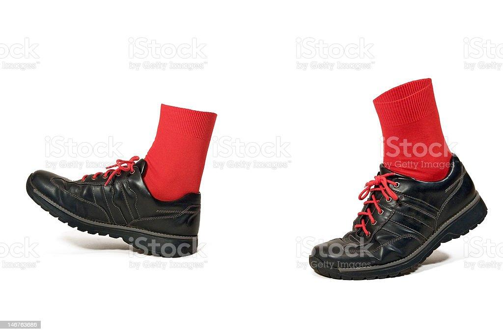 walking black shoes royalty-free stock photo