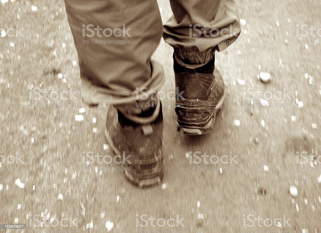 Walking boots royalty-free stock photo