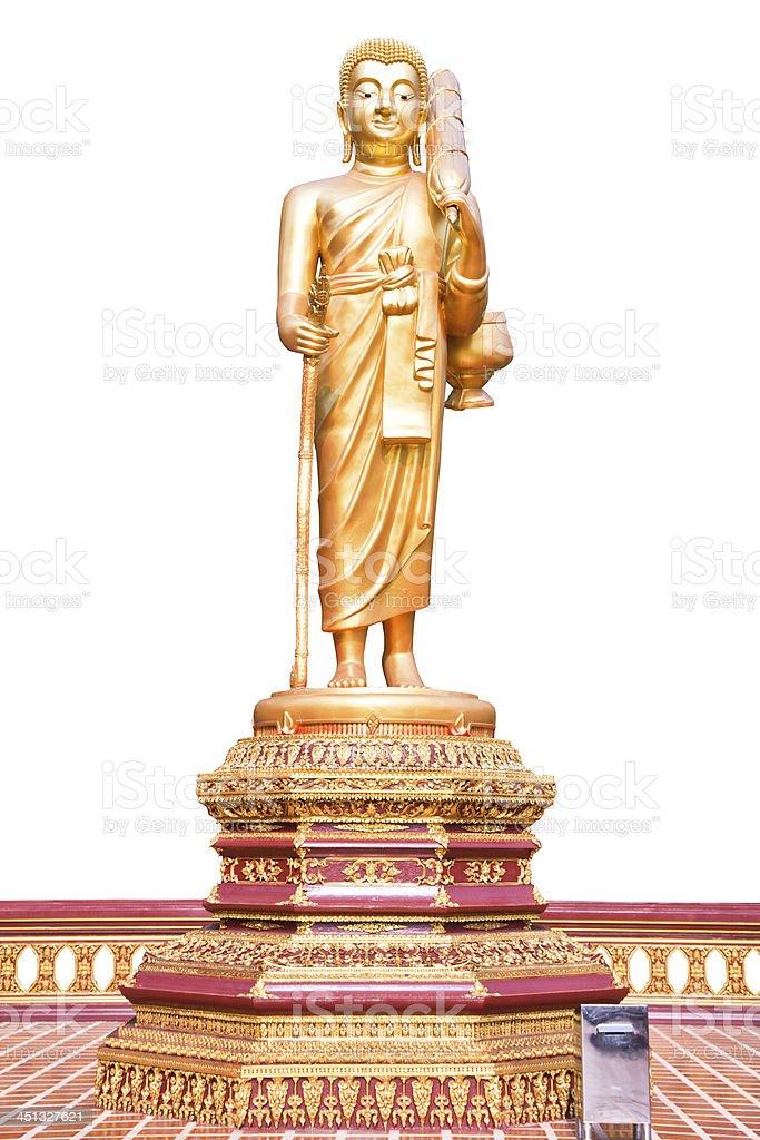 Walking Buddha. royalty-free stock photo
