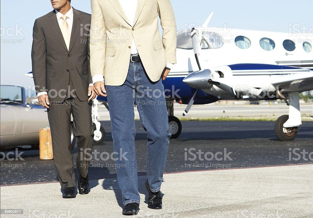 walking businessmen royalty-free stock photo