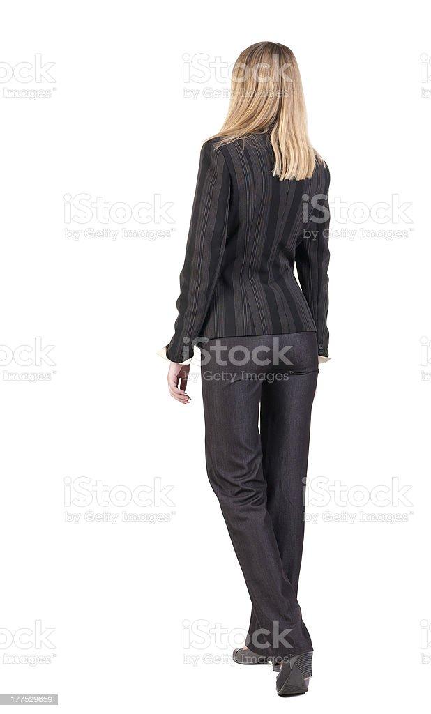 walking businesswoman. royalty-free stock photo