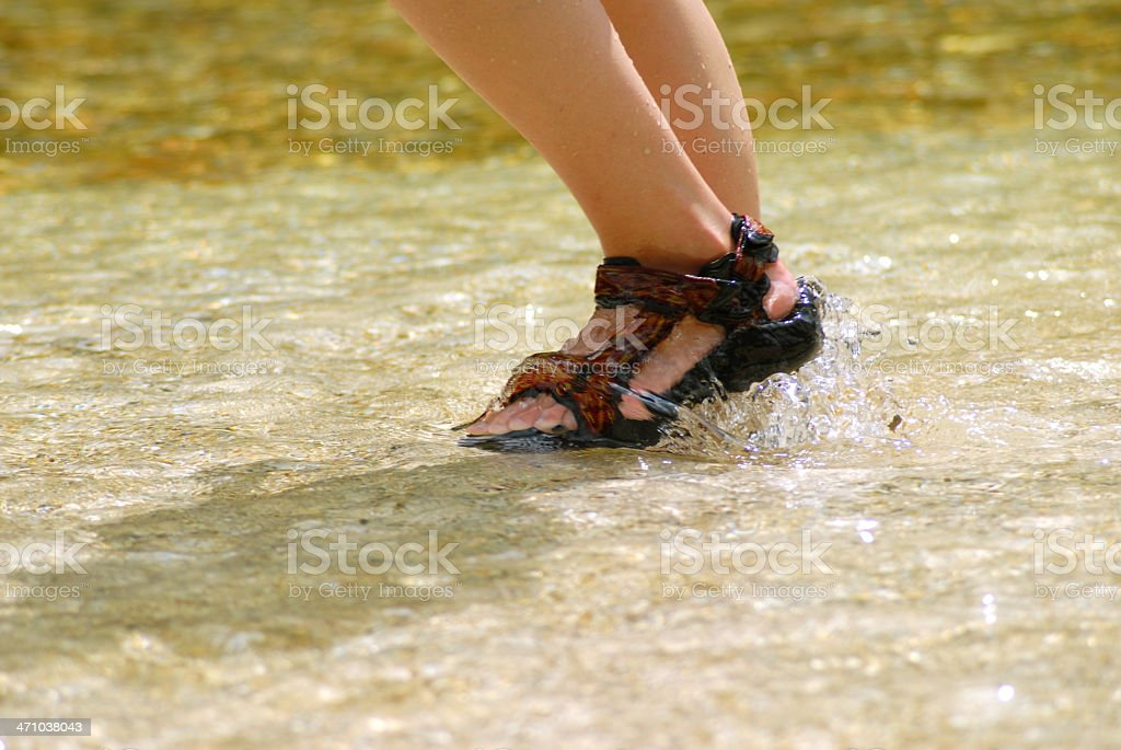Walking down by the river royalty-free stock photo