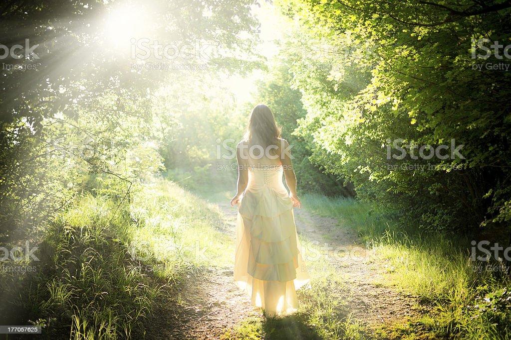 Walking fairy stock photo