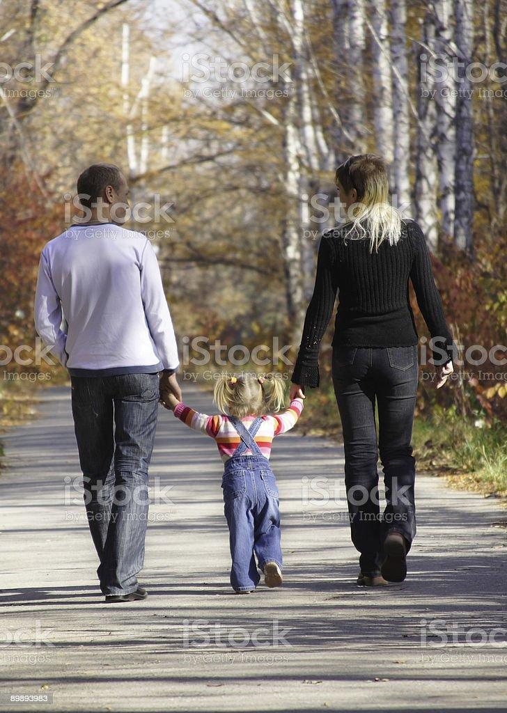 walking family royalty-free stock photo