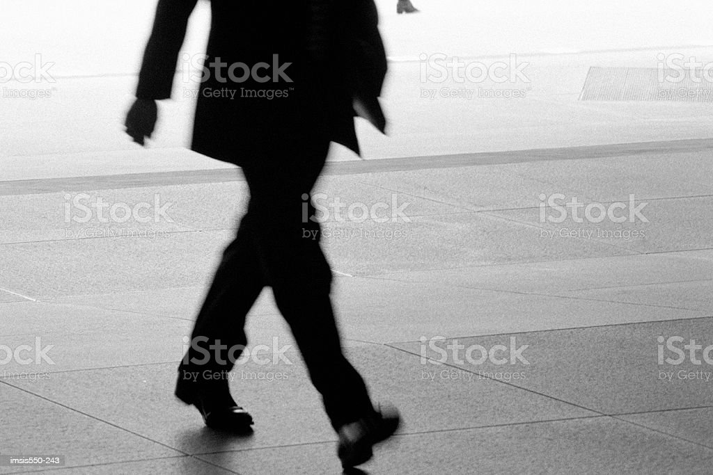Walking fast royalty-free stock photo