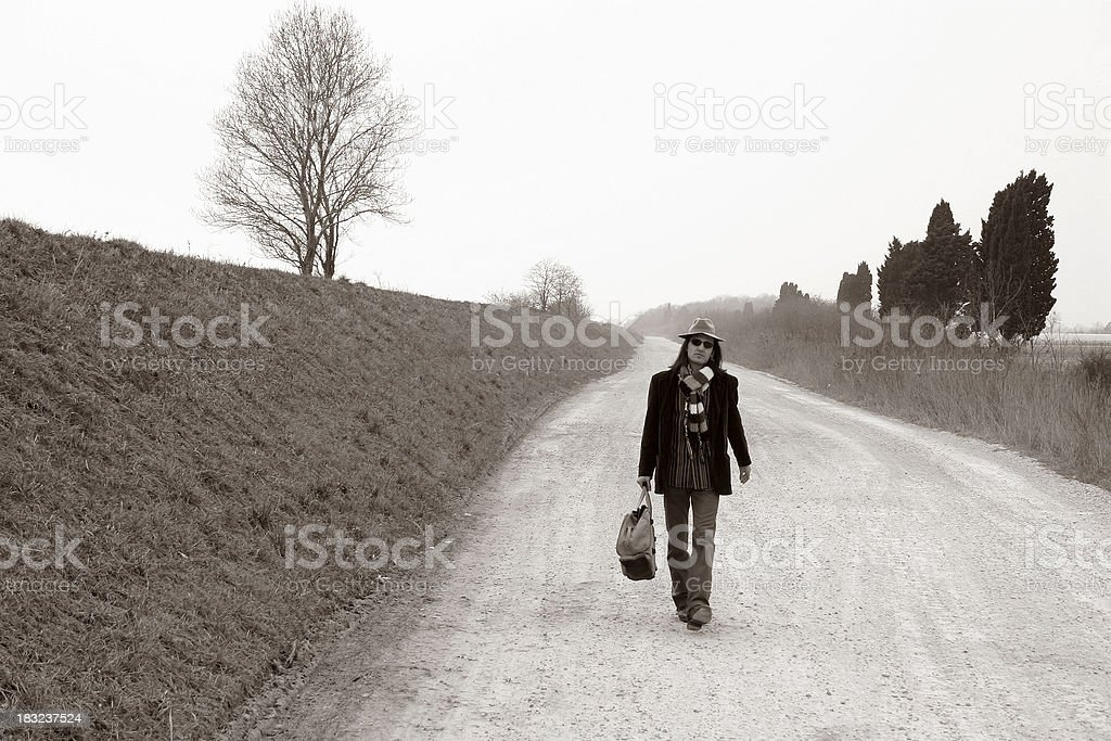 Walking from nowere 1 royalty-free stock photo