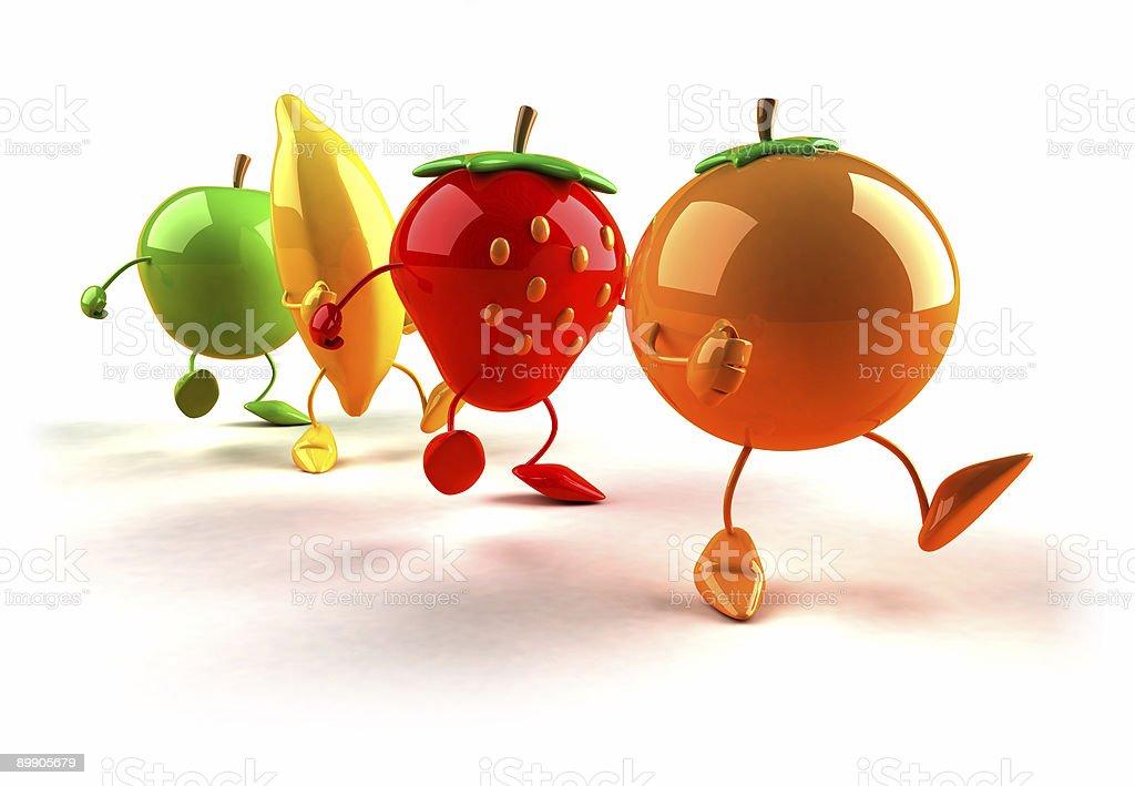 Walking fruits royalty-free stock photo