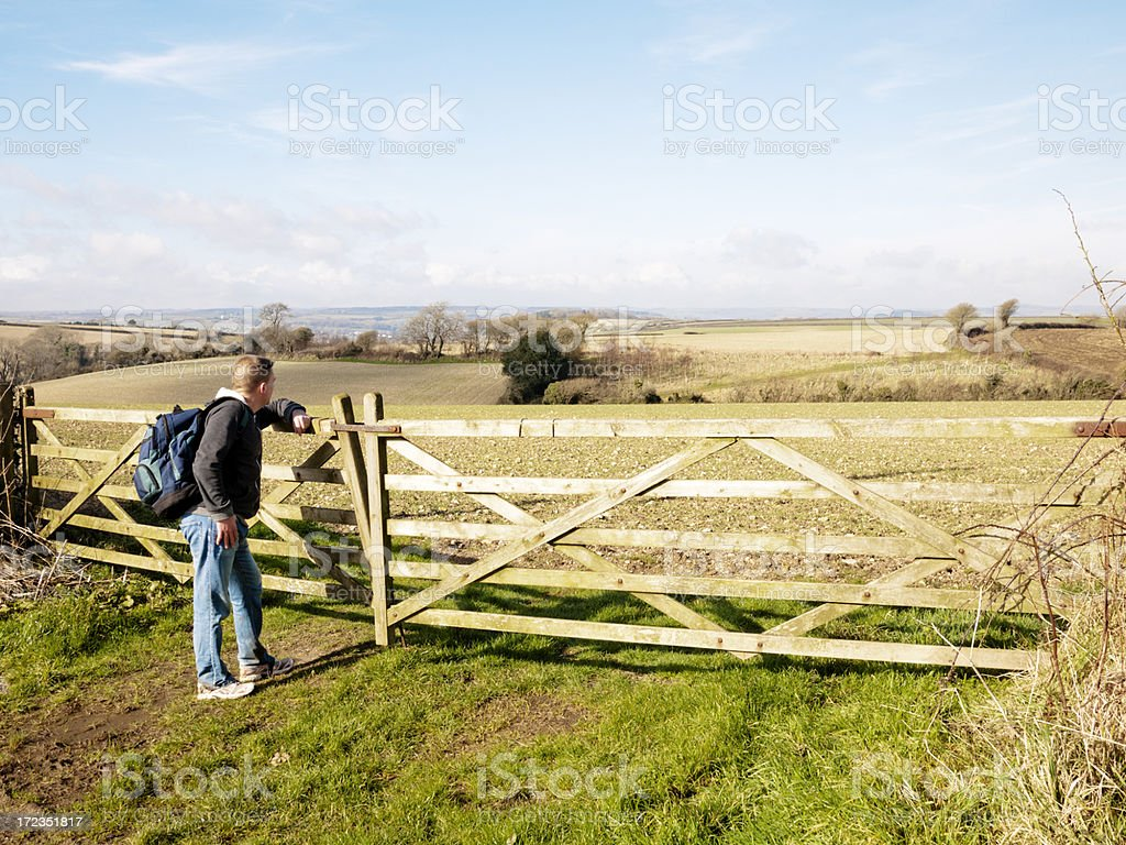 Walking in Devon royalty-free stock photo