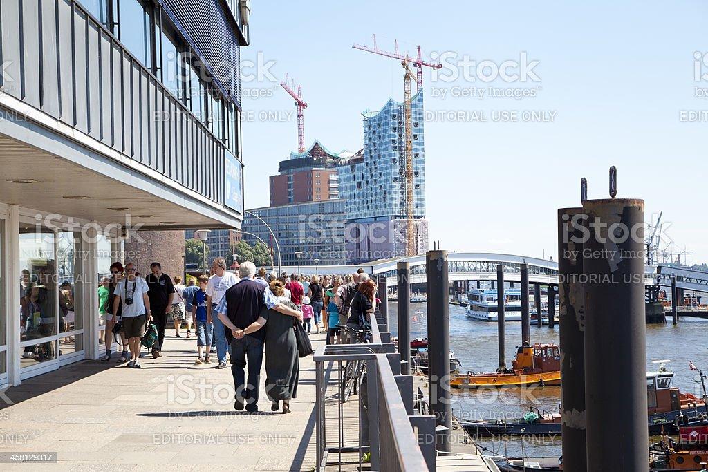 Walking in Hamburg royalty-free stock photo
