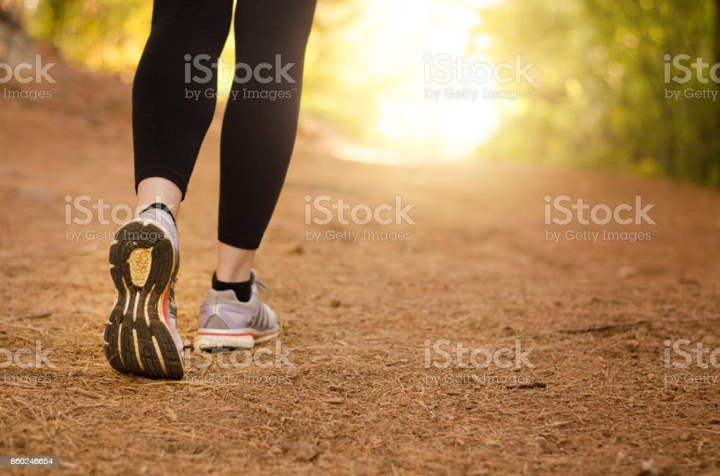 Walking in nature stock photo