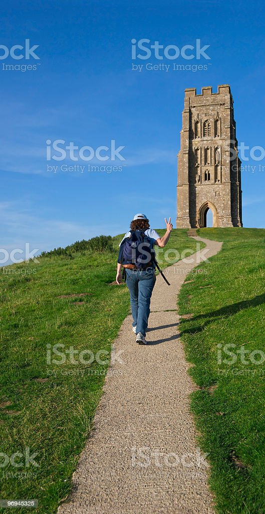 Walking in Peace royalty-free stock photo