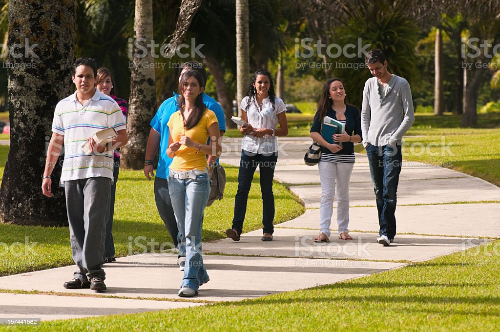 Walking in the Campus royalty-free stock photo