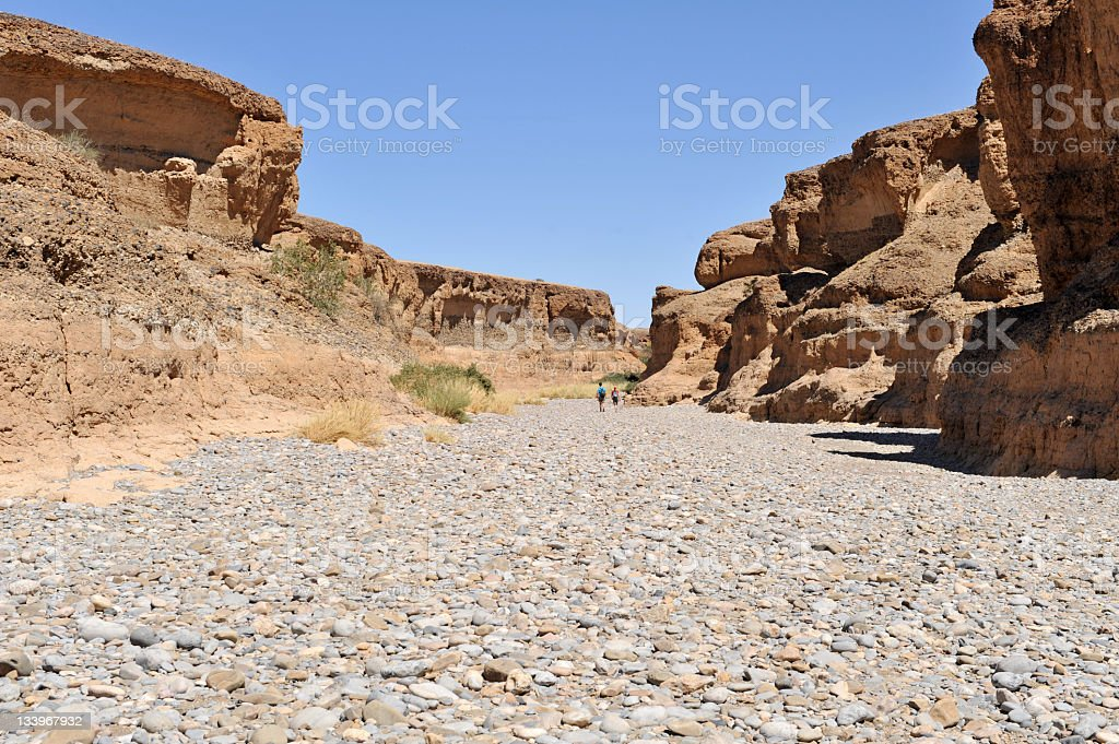 Walking in the canyon. stock photo