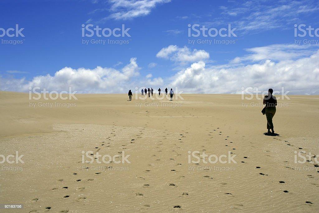 Walking in the desert royalty-free stock photo