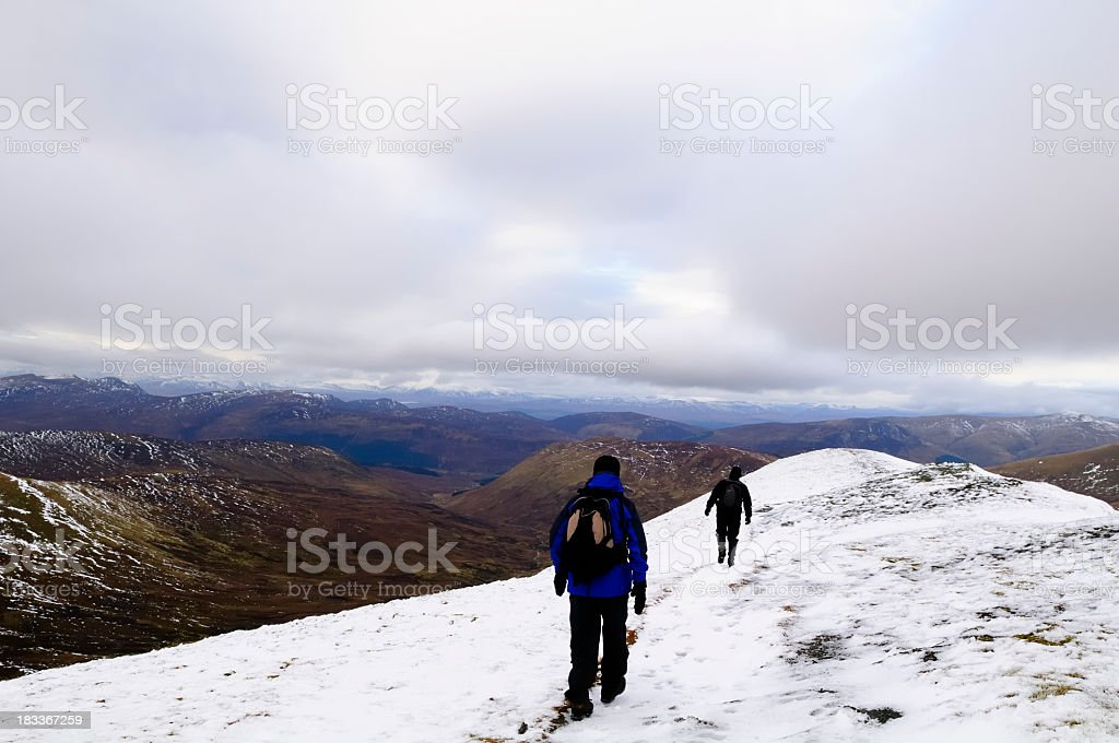 Walking in the Highlands stock photo