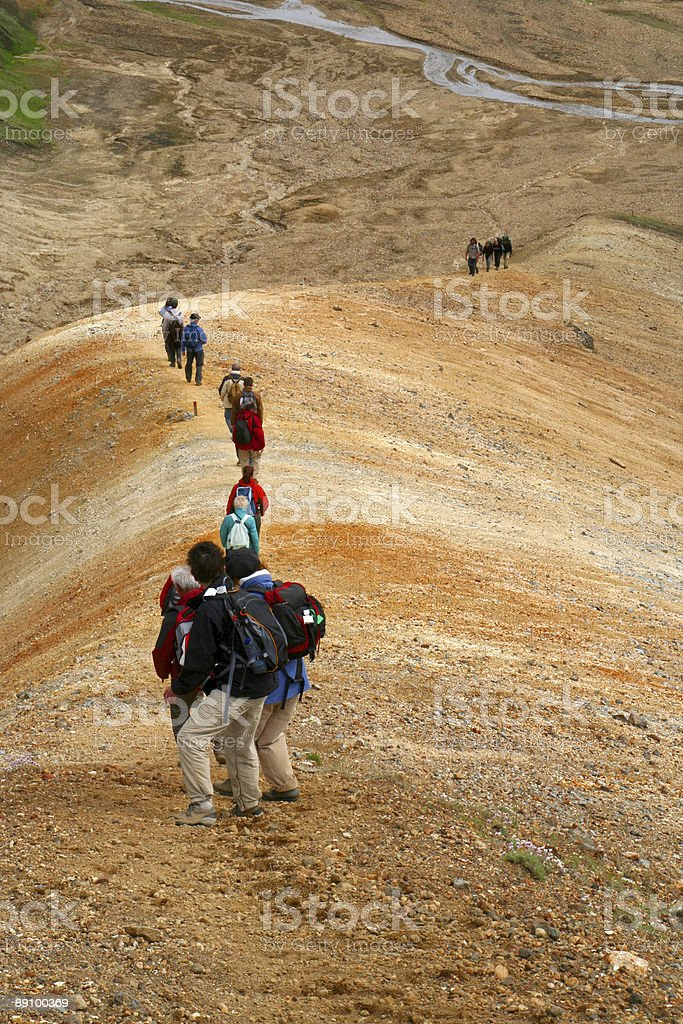 Walking in the mountains royalty-free stock photo