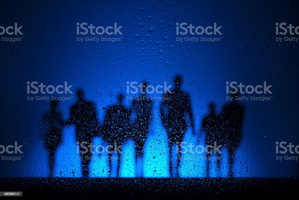 Walking in the night royalty-free stock photo