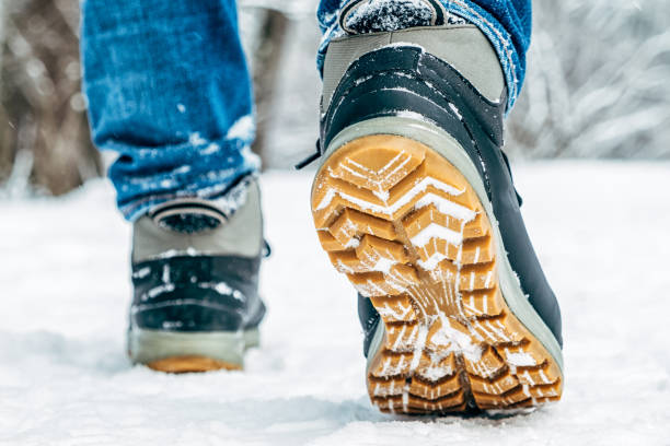 Walking in the snow closeup of winter shoes rear view picture id1047687514?b=1&k=6&m=1047687514&s=612x612&w=0&h=sg4fmkexkb5xaqqzm gwzu38ydbaupwdl2r qsoboo8=