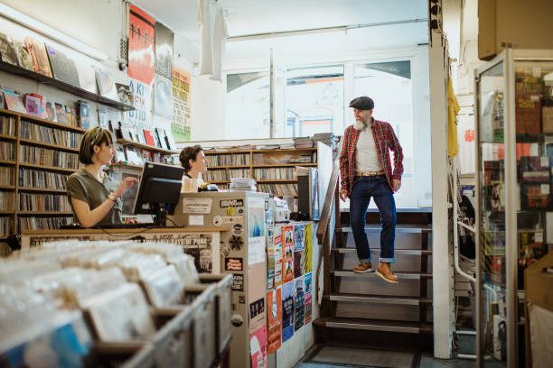 走進本地唱片店 - small business saturday 個照片及圖片檔