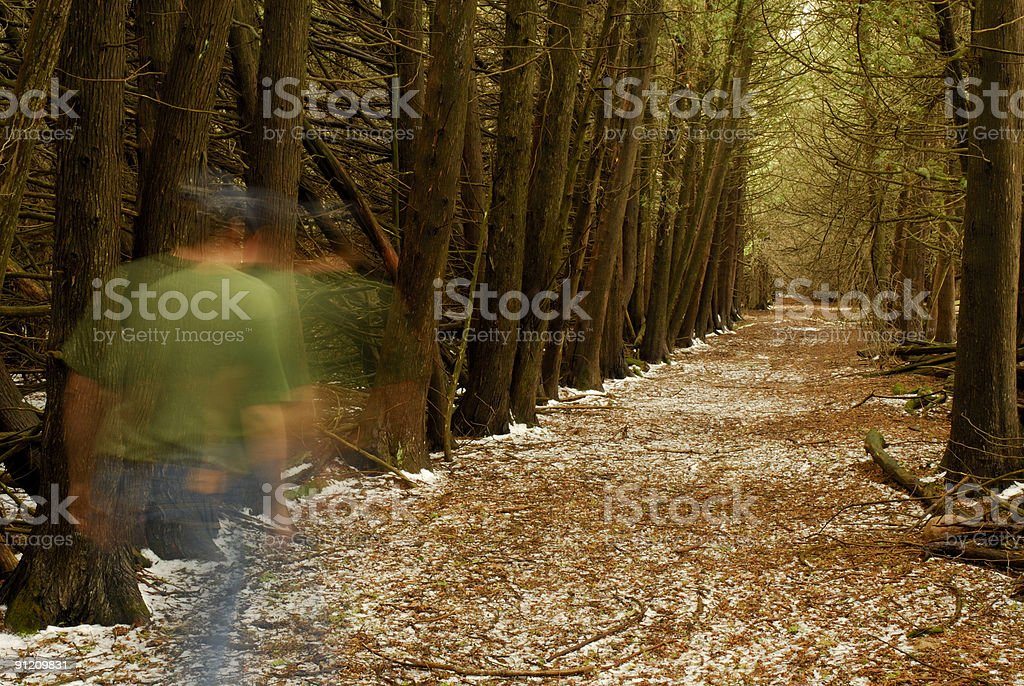 Walking intop the tunnel royalty-free stock photo