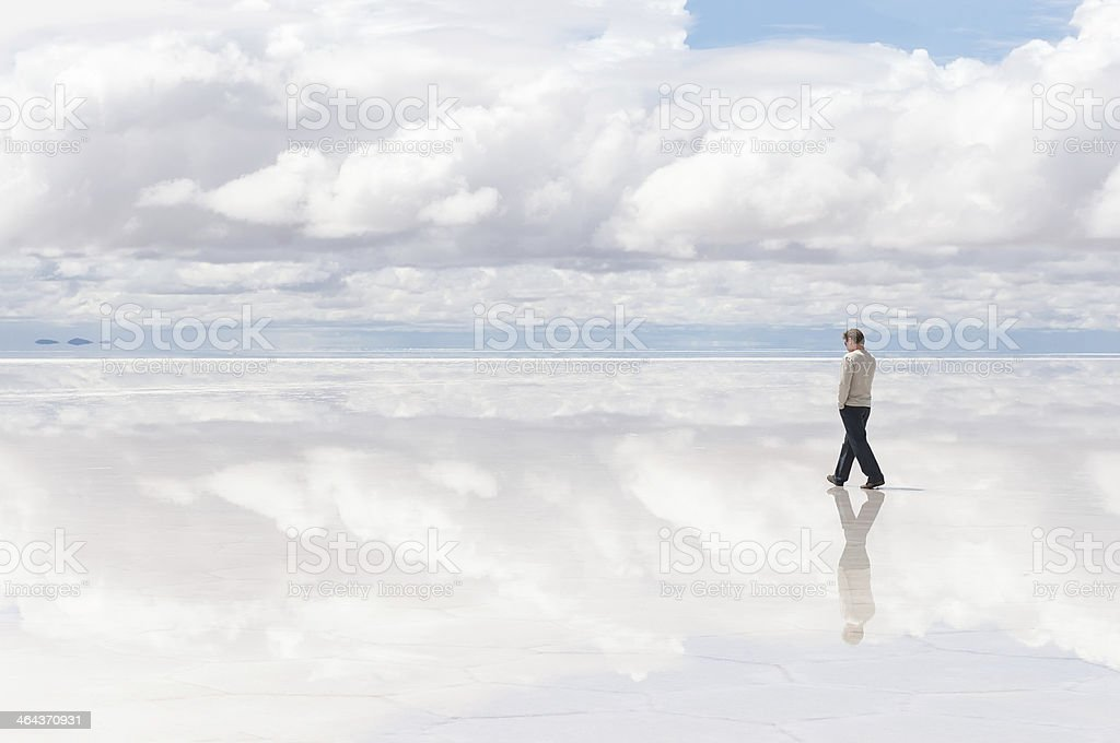 Walking man stock photo