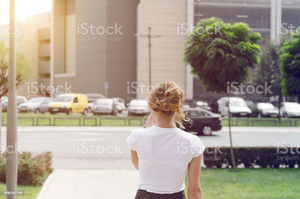 Walking no driving stock photo