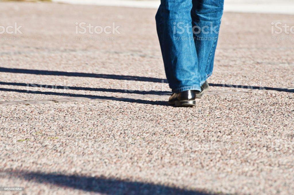Walking On A Walkway - Royalty-free Adult Stock Photo