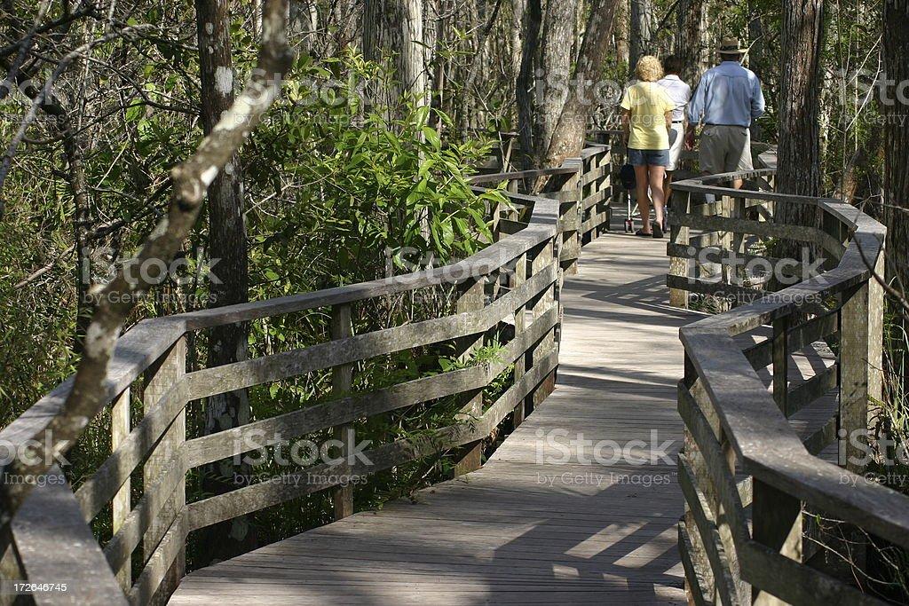 Walking On Deck royalty-free stock photo